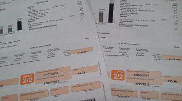 Diferencia. Una usuaria consumió casi el doble, pero su factura aumentó seis veces su valor.