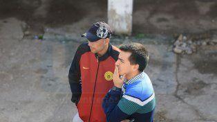 Se despidió. Jonathan Belforte estuvo presente ayer en el estadio Pedro Mutio para despedirse de sus excompañeros.