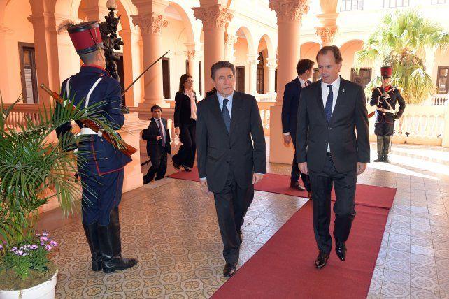 El embajador de Francia pasó por la casa de gobierno en Paraná