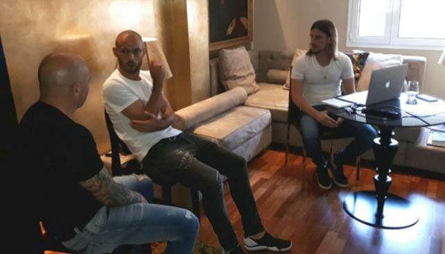Extensa reunión entre Sampaoli y Mascherano