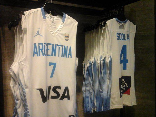 La nueva camiseta de la Selección argentina de básquet