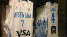 la nueva camiseta de la seleccion argentina de basquet