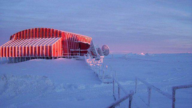 Frío extremo. El invierno es muy inhóspito en la Antártida.