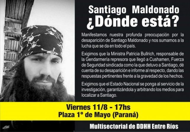 Investigan un video en el que, supuestamente, aparece Santiago Maldonado