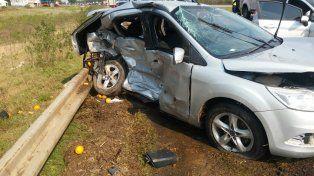 Violento accidente en la autovía dejó varios heridos