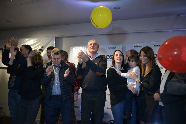 El festejo de Cambiemos con el vuelo del globo. Foto UNO Juan Manuel Hernández.