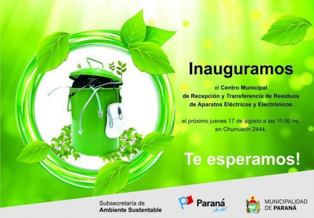Paraná tendrá un centro de recepción y transferencia de residuos de eléctricos y electrónicos