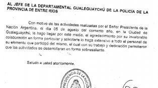 Sobresaliente. La Casa Militar reconoció el trabajo de la fuerza de seguridad provincial.