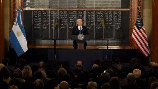 Mike Pence resaltó las reformas de Mauricio Macri