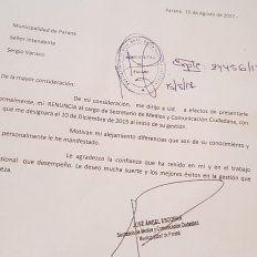 Renunció el secretario de Medios y Comunicación de la gestión Varisco