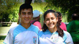 Compañeros. Ailén Sircelj y Alejo Clivio son dos paranaenses que estarán en la competencia internacional de Rosario.