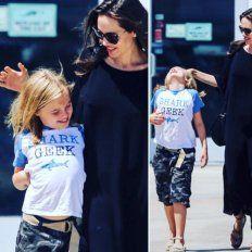 La hija menor de Angelina y Brad Pitt y su look boyish en el centro de las miradas