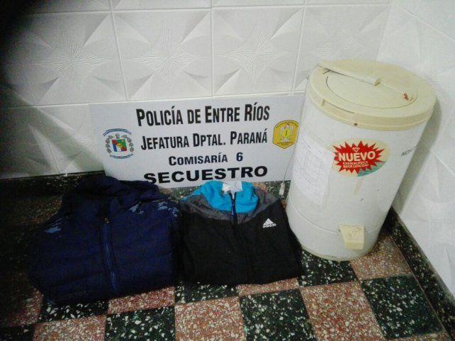 Allanamiento en barrio Pirola: recuperaron dos camperones y un secarropas