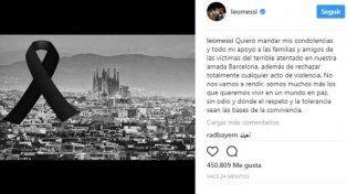 Messi repudió el atentado: No nos vamos a rendir
