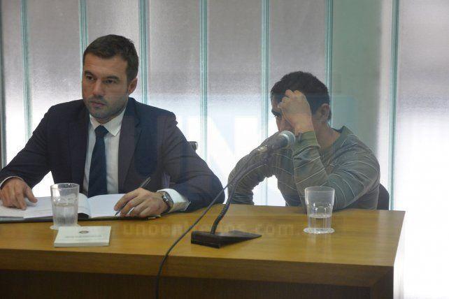Rodrigo Leiva declaró en tribunales después del mediodía. Foto UNO Mateo Oviedo.