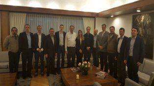 Los empresarios y el gobernador en Bogotá. Foto Prensa Gobernación.