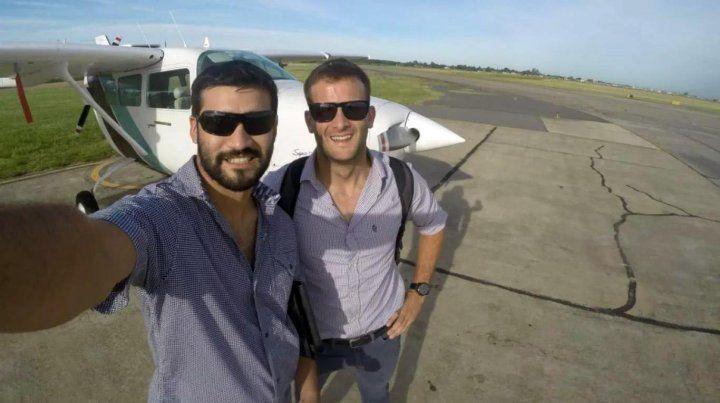 Los pilotos Matías Ronzano y Facundo Vega tripulaban la avioneta desaparecida desde el 24 de julio tras partir del aeropuerto de Don Torcuato