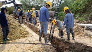 Saneamiento. Las obras apuntan a aumentar sustancialmente la cantidad de hogares con servicio.