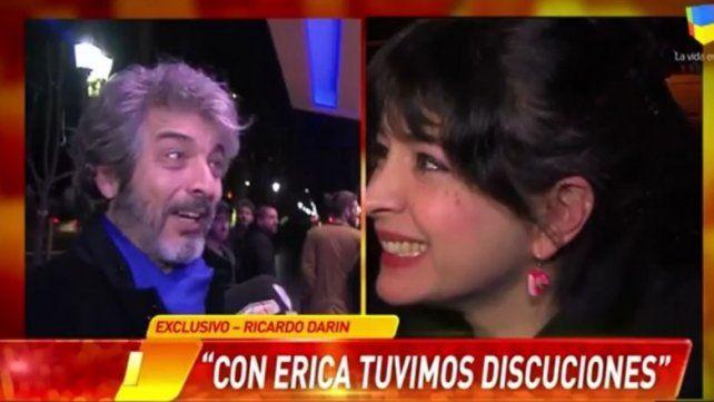 Ricardo Darín blanqueó su pelea con Érica Rivas
