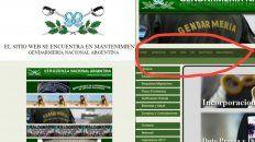 hackearon la pagina web de gendarmeria con leyendas sobre el caso maldonado