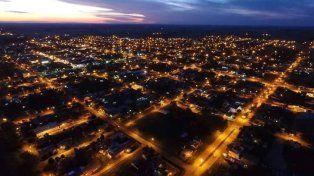 Imagen nocturna de San Salvador. Foto Facebook/ San Salvador.