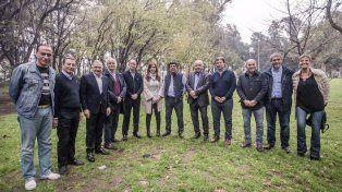 Cristina con los intendentes peronistas en la provincia de Buenos Aires.