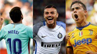 Messi, Icardi y Dybala llenaron de goles a Europa y sueña Sampaoli