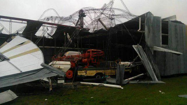 Un temporal provocó destrozos en la localidad de Líbaros