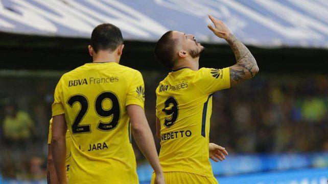El porqué del clásico festejo de gol de Darío Benedetto