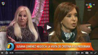 Susana negocia un reportaje con Cristina Kirchner