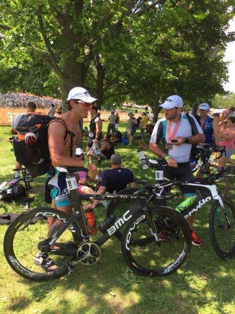 Con las bici. Los depor tistas paranaenses confesaron que el trazado de la bicicleta fue verdaderamente extenuante.