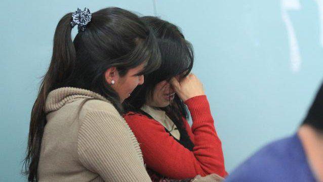 Decepción. Los familiares de Duarte no quedaron conformes con el fallo. Foto: Juan Pereira.