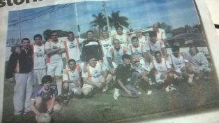 DEL RECUERDO. Los Aromos desde hace décadas que forma parte de la Liga Agrupaciones de Veteranos de Fútbol de Paraná.