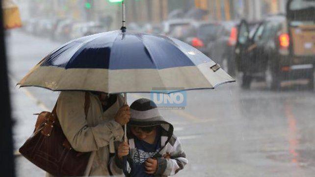 Alerta por lluvias y tormentas para Entre Ríos