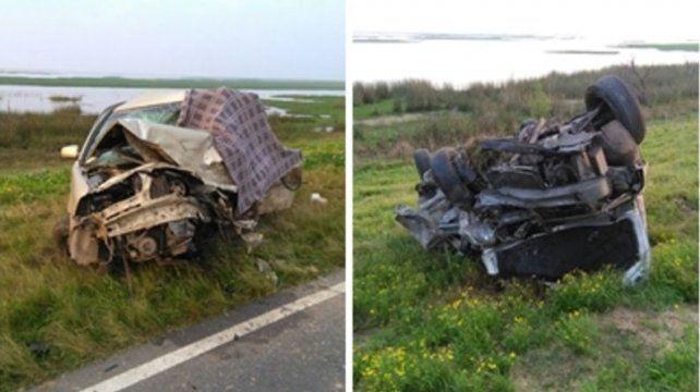 Choque a la madrugada. Por el incidente dos personas perdieron la vida. Foto: LT 39.