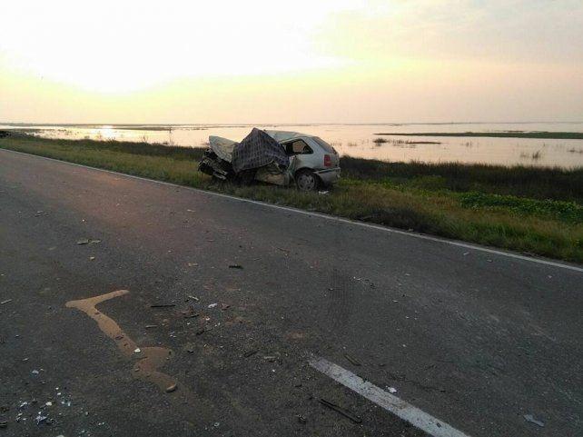 Fatal choque en el puente Victoria - Rosario con dos personas muertas