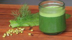Un jugo verde en ayunas es clave para el organismo. Foto UNO Juan Ignacio Pereira.