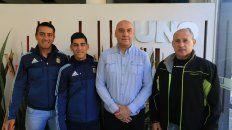 Los árbitros de Paraná visitaron la Redacción de UNO para hacer extensiva la invitación.