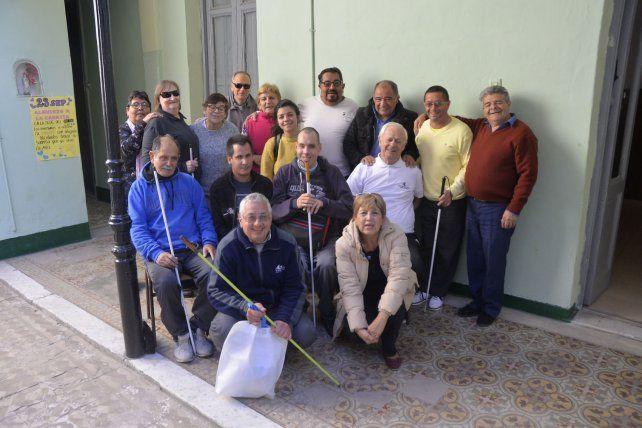 Actividades. En el Centro Amigos del Ciego desarrollan distintos proyectos de integración.
