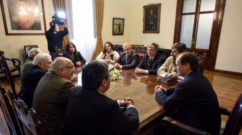 Con Bordet. Federik, Marciano y Enrique Martínez, Raúl Barrandeguy y Hugo Gemelli, entre otros.
