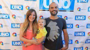 Felipe y su familia en diciembre de 2016 fue reconocido en los Destacados del Año. Foto UNO.