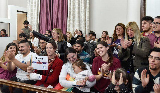El festejo en la cámara alta entrerriana. Foto prensa Vicegobernación.