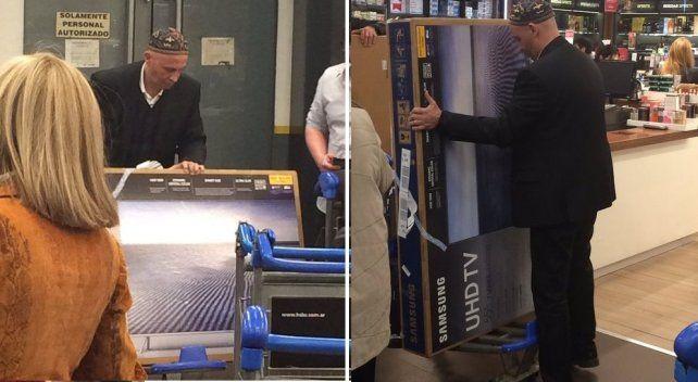 Bergman fue en viaje oficial a Chile y se volvió con dos LCD gigantes