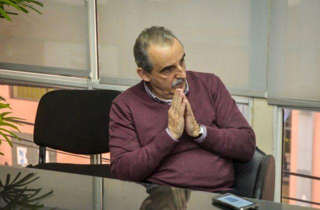 Guillermo Moreno en la redacción de Diario UNO de Entre Ríos. Foto UNO Mateo Oviedo.