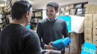 Gainza confirmó que el lunes realizarán una capacitación con el personal que la entregará. Foto Twitter Gainza.