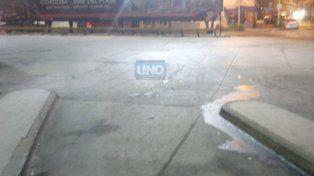La terminal de Paraná anoche cuando se confirmó el paro.