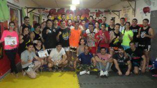 Con un referente de las artes marciales
