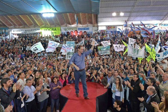 Gustavo Bordet unió al peronismo entrerriano en Villaguay