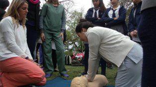Devolución. A lo largo de la semana hubo talleres de salud destinados a toda la población.