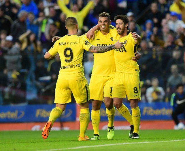 Boca goleó a Godoy Cruz en la Bombonera